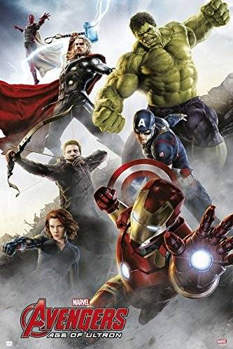 Grupo Erik Editores Poster Marvel Avengers Age Of Ultron Group Iron Man