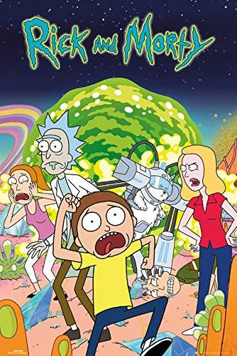 Grupo Erik Editores GB Eye LTD, Rick and Morty, Group, Maxi Poster, 61,5 x 91,5 cm