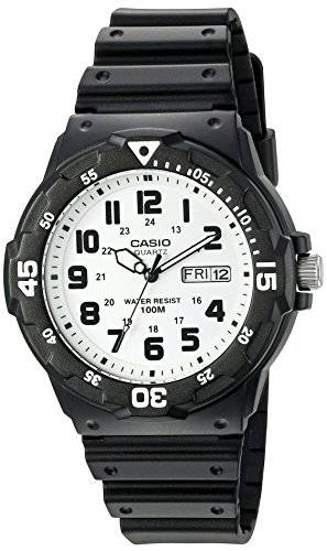 Casio Men's 'Classic' Quartz Resin Automatic Watch, Color:Black (Model: MRW200H-7BV)