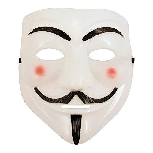 AKORD V FOR VENDETTA ANONYMOUS GUY FAWKES FACE MASK HALLOWEEN WHITE by AKORD