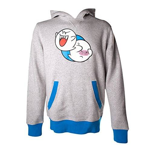 Sunset International Nintendo Hoodie -M- Boo, grau/blau