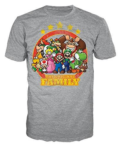 Bioworld Nintendo – Grey, The Original Family – Camiseta Maat 2 x s