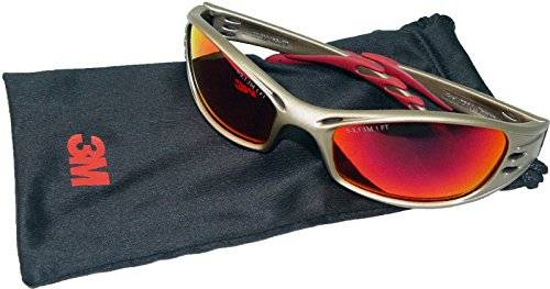 3M Fuel Titanium Red Mirror Lens Safety Glasses & Pouch