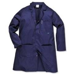 Portwest Hygiene & Warehouse Coat Vented Large Navy Ref 2852LGE Nvy