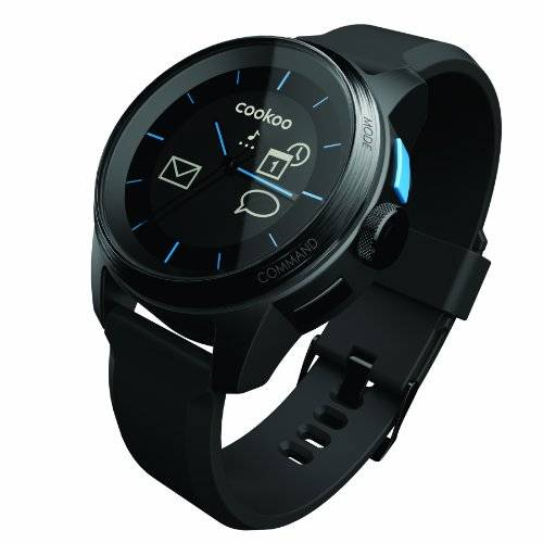 Cookoo Reloj Cookoo SmartWatch Bluetooth 4.0 Negro/Negro para iPhone,iPad,iPod Touch (iOS 5 / iOS 6)