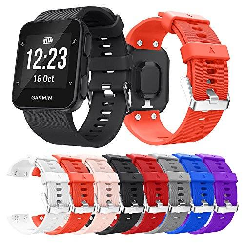 Tabcover for Garmin Forerunner 35 Watch Correa,Soft Silicone Sport Replacement Strap Correa for Garmin Forerunner 35 Smart Watch