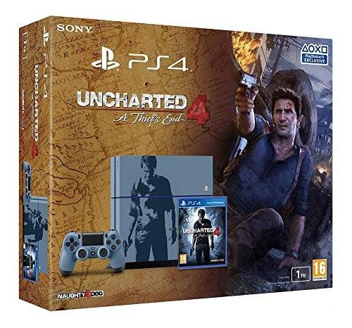 Sony Console PlayStation 4 1 To + Uncharted 4: A Thief's End - Édition Limitée [Importación Francesa]