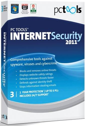 PC Tools Internet Security 2011, 3 Computers, 1 Year Subscription (PC)