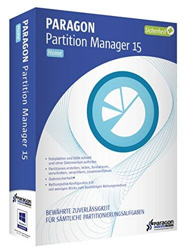 Paragon Software Partition Manager 15 Home