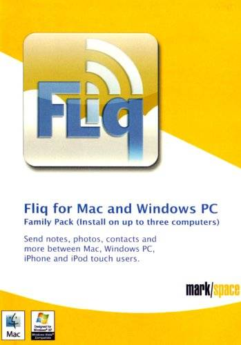 Mark/Space inc. Fliq for Mac and PC product. Family Pack (3 seat) (Mac/PC CD)
