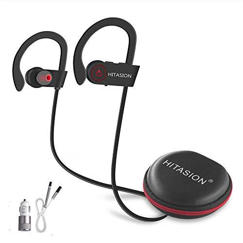 hitasion Bluetooth auriculares w/micrófono HD sonido impermeable