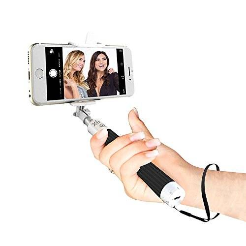 Xtra Selfie Stick Advance Extendable Bluetooth Mono Pod with Built-in Shutter & Adjustable Phone Holder for iPhone 7/7 +/SE/6S/6/6 Plus Samsung Galaxy S7/S6/Edge, ordenador 5/4, LG G5, Moto X/G & Android Phones
