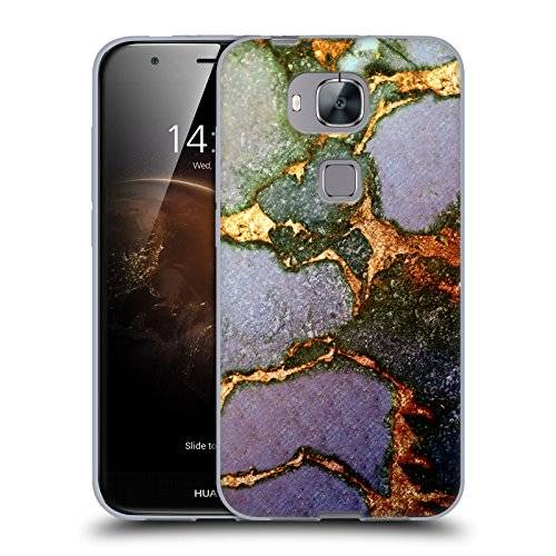 Head Case Designs Official Monika Strigel Purple Fading Gemstone And Gold Soft Gel Case for Huawei G8