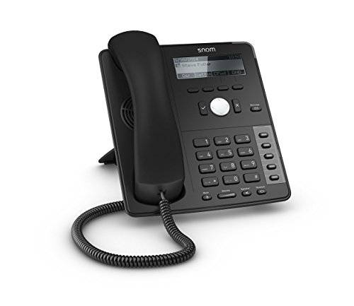 SNOM D715 Professional Business Phone, Display with backlight, Gigabit switch, USB port, Sensor hook switch, 4 SIP identities, IPv6, Black; 4039