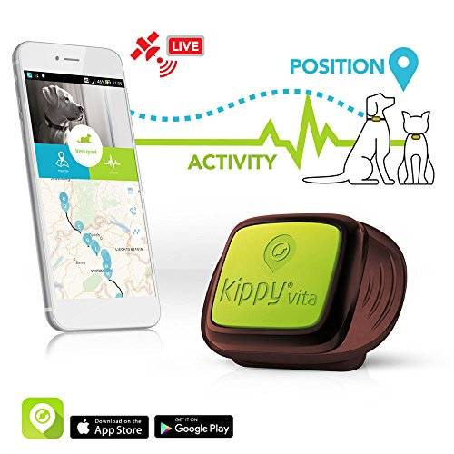 KIPPY Pet GPS Tracker for Dogs and Cats by Kippy   GPS Monitoring & Activity Monitor for Dogs, Cats and more   Simply attach to your Pet's Collar or Harness   Works with iPhone, Android, Smartphones, Tablets   Data Service Subscription Required and Sold Separately