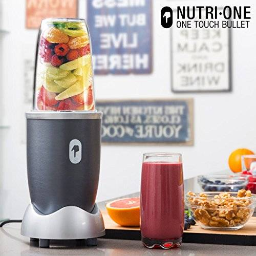 One Touch Bullet Nutri-One - Licuadora, 600 W, color gris