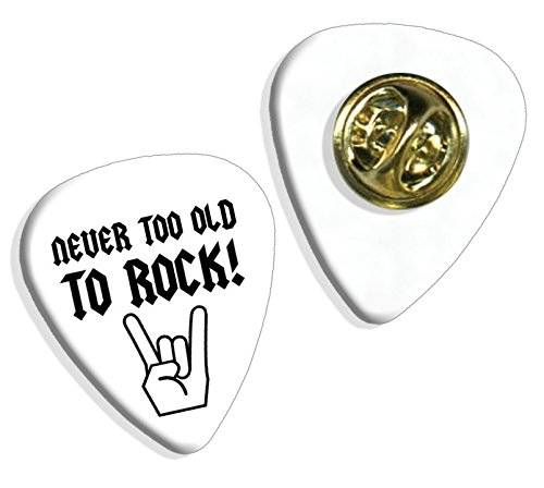 Live Performance Never Too Old Birthday Guitarra Pick Badge Placa (GD)