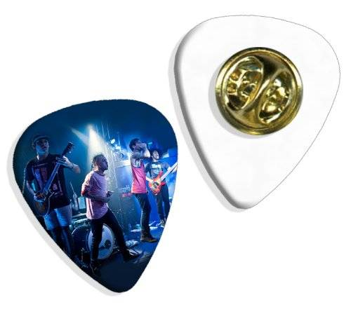 Live Performance Issues Band (DW) Live Performance Guitarra Pick Badge Placa
