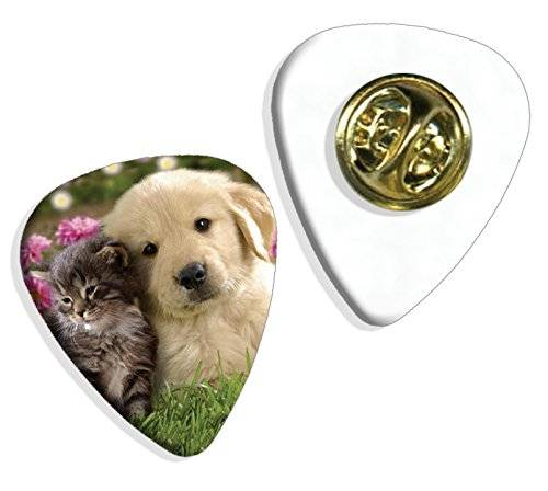 Live Performance Puppy And Kitten Cute Guitarra Pick Badge Placa (GD)