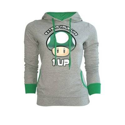 Nintendo - Grey Extend Your Life (Felpa Unisex Tg. M)