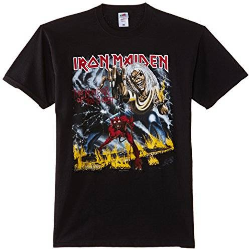 Iron Maiden - Number Of The Beast Black (T-Shirt Unisex Tg. L)