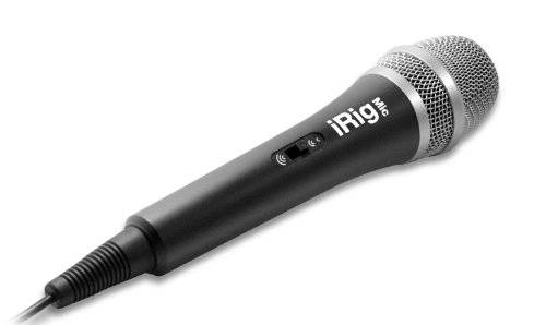 IK Multimedia IP-IRIG-MIC - Micrófono de condensador (vocal, de mano), color negro