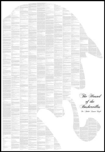 Arthur Conan Doyle The Hound of the Baskervilles. Full Text Poster