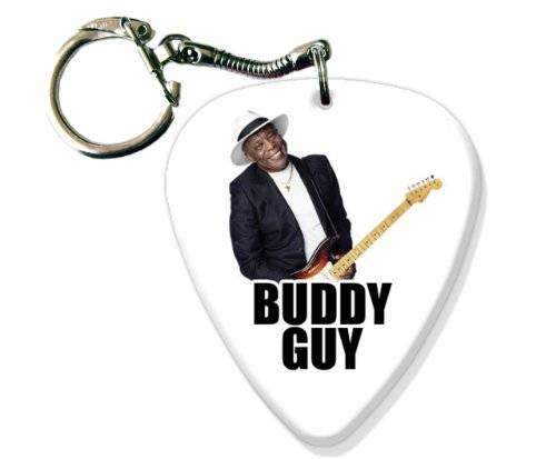 Printed Guitarra Picks Buddy Guy BIG Guitarra Pick Llavero Band Púa Para