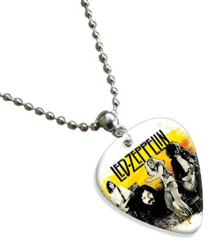 Printed Guitarra Picks Led Zeppelin Double Sided Guitarra Púa Para Pick Chain, Collar Necklace