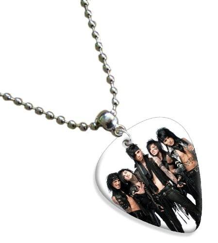 Printed Guitarra Picks Black Veil Brides Double Sided Guitarra Púa Para Pick Chain, Collar Necklace
