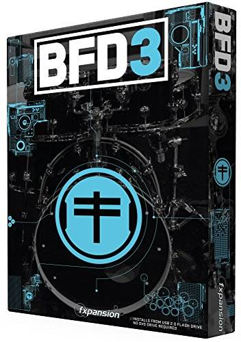 FXpansion BFD 3 Box 64 GB memoria USB Evolved Acoustic Drum Software