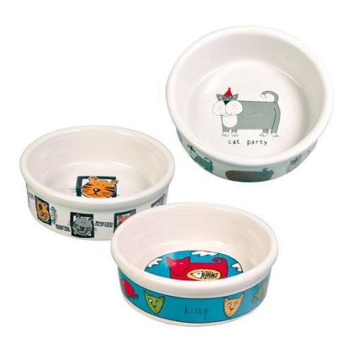 trixie Comedero 4 Cat Bowls, Ceramic