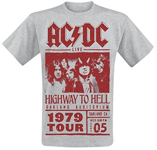 Desconocido AC/DC Highway To Hell - Red Photo - 1979 Tour Camiseta Gris/Mel M
