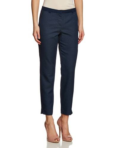 Tom Tailor Structured - Vaqueros straight para mujer, talla W40/L33 (40), color azul (real navi blue)
