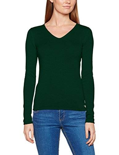 Tom Tailor Basic V-Neck Sweater, Suter para Mujer, Verde (Deep Green Lake 7610), 44 (Talla del fabricante: XX-Large)