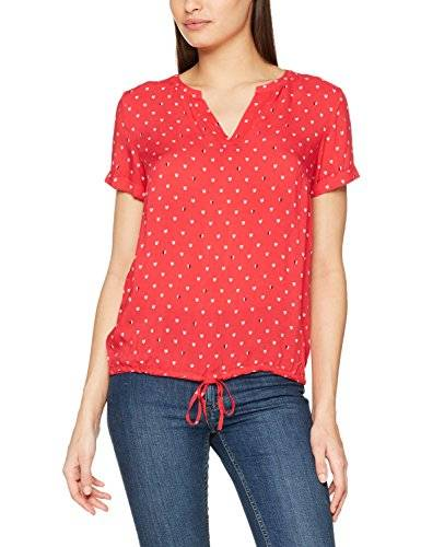 Tom Tailor Lovely Print Blousetop, Blusa para Mujer, Rosa (Permanent Rose 4760), 46 (Talla del Fabricante: 44)