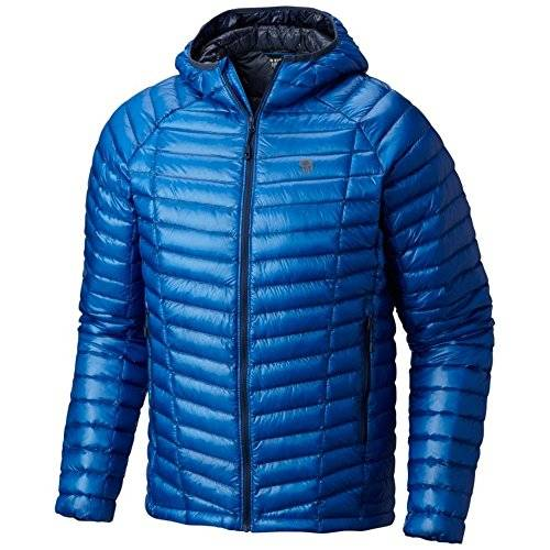 MOUNTAIN HARDWEAR MENS GHOST WHISPERER HOODED DOWN JACKET ALTITUDE BLUE (SMALL)