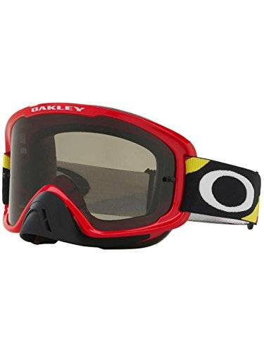 Oakley O2 MX Heritage Racer Adult Off-Road Motorcycle Goggles Eyewear - Red/Dark Grey / One Size Fits All