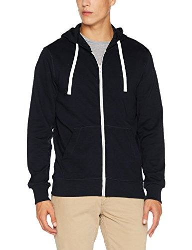 Jack & Jones Jorholmen Sweat Zip Hood Noos, Sudadera para Hombre, Azul (Total Eclipse Fit:Reg Fit), Small