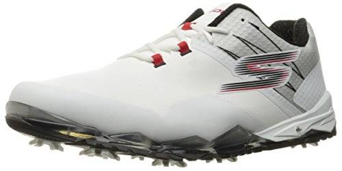 Skechers Mens GoGolf Focus Golf Shoes Mens White/Black/Red 8 Regular Fit Mens White/Black/Red 8 Regular Fit