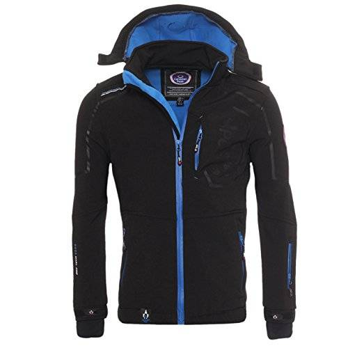 Canadian Peak by Geographical Norway - Chaqueta de forro polar para exterior, color negro, tamao XXL
