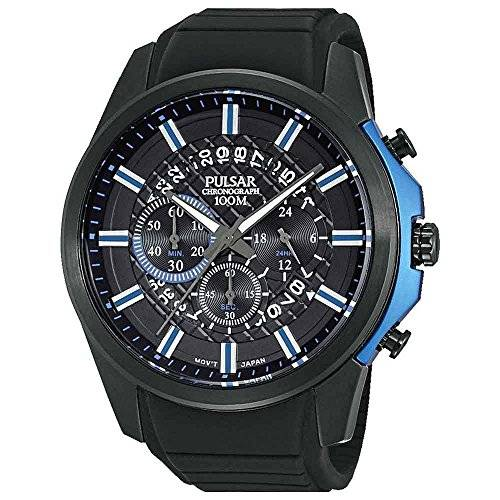 Pulsar Watches Men's Sport Chronograph Watch With Blue Accents
