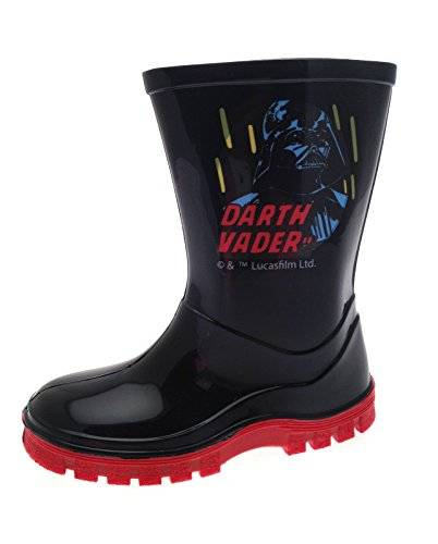 Disney - Botas para niño Negro Darth Vader - Black/Red - Bagged