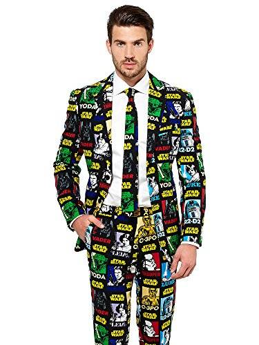 OppoSuits Official STAR WARS Suit  Strong Force Costume Comes With Pants, Jacket and Tie