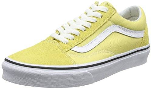 Vans Old Skool, Zapatillas de Entrenamiento Unisex Adulto, Amarillo (Dusky Citron/true White), 43 EU