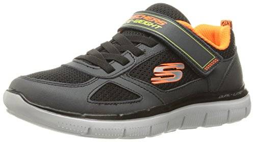 Skechers Kids Boys' Flex Advantage 2.0 Sneaker, Charcoal/Black, 12 M US Little Kid