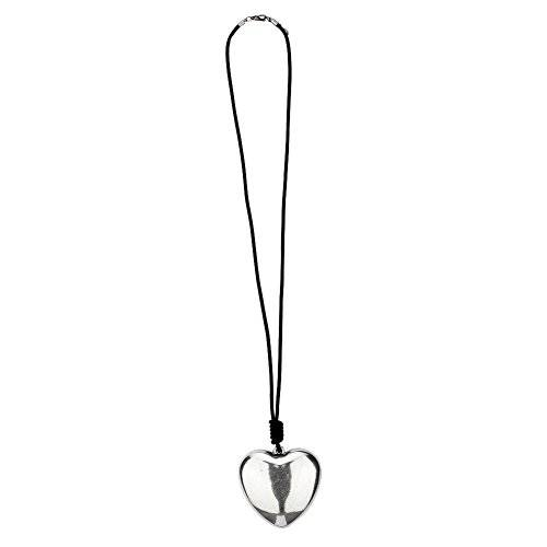 Pendant-necklaces 70mm Heart 72cm Made With Leather & Zinc Alloy