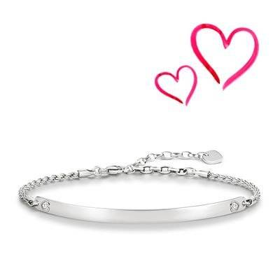Thomas Sabo Love Bridge – Pulsera corazón, lba0045 – 051 – 14 de l19,5 V