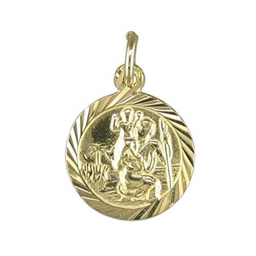 Gold St Christopher by Amandas Silver Boutique Amandas Silver Boutique Hombre  9_ct_(375)  oro amarillo     sin piedra, sin perla