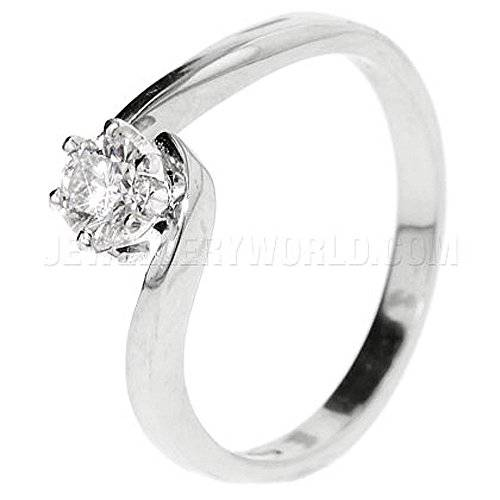 Jewellery World 0.33ct de platino anillo de compromiso de diamante de la torcedura